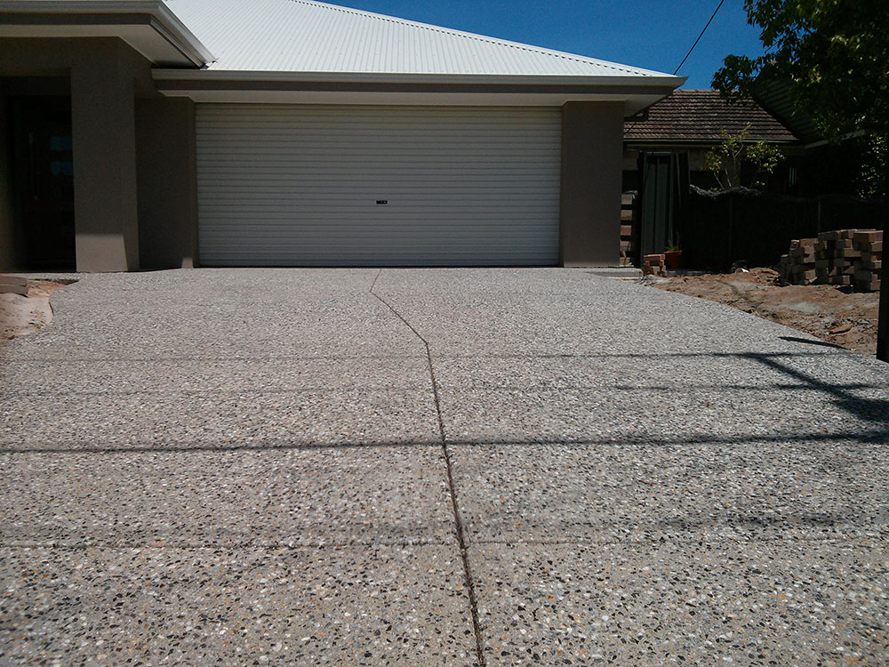Exposed Aggregate - Grey Stone